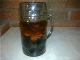 Chaga Tee im Glas